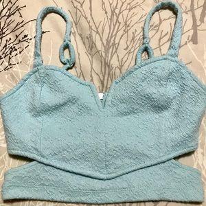 ✨LA HEARTS✨ Pacsun Turquoise Crop Top. Size XS